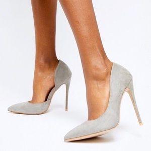 Steve Madden Felicity Suede d'Orsay Pump Heels 7.5